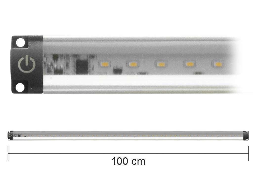 Barra Led Con Interruttore 12V 10W 3000K 100Cm Inclinabile Mod. Ap100Pc-Inc_Cod. 930302_AlcaPower