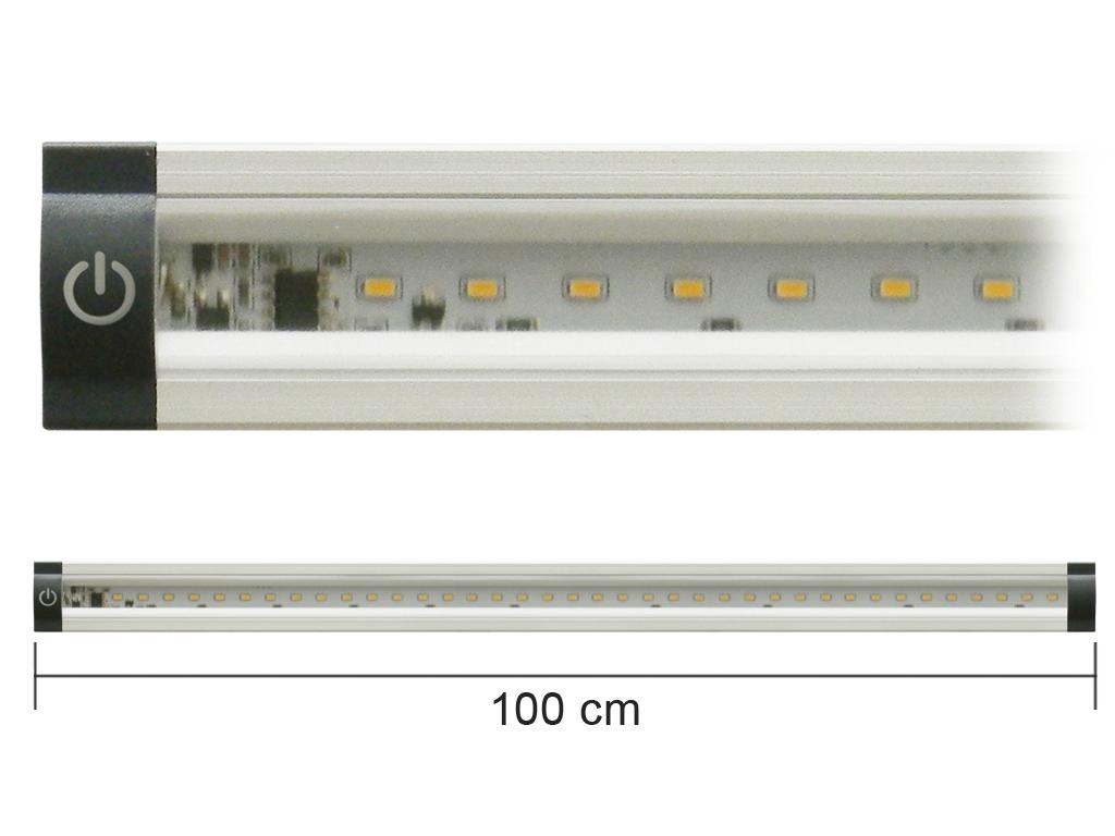 Barra Led Con Interruttore 12V 10W 4000K 100Cm Inclinabile Mod. Ap100Pn-Inc_Cod. 930303_AlcaPower