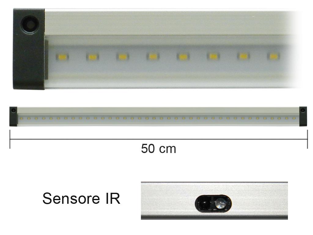 Barra Led con Sensore IR 12V 5W 4000K 50cm Mod. AP50IRN