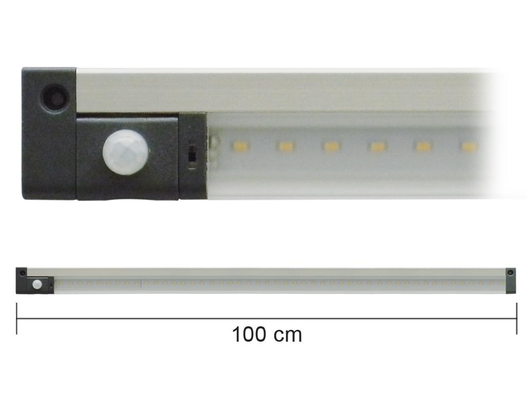 Barra Led con Sensore PIR 12V 5W 3000K 50cm Mod. AP50PIRC
