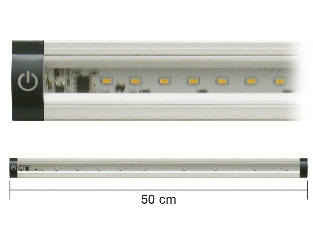 Barra Led con Interruttore 12V 5W 3000K 50cm Mod. AP50PC