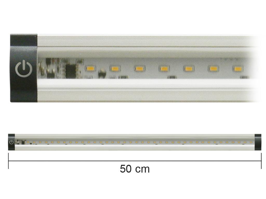 Barra Led Con Interruttore 12V 5W 4000K 50Cm Mod. Ap50Pn_Cod. 930313_AlcaPower