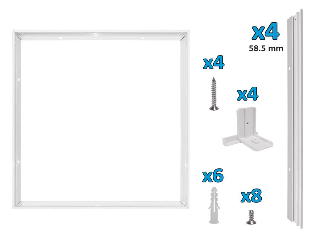 Kit Di Installazione Con Fissaggio A Molla 600*600 Mod. Ap7003Kit_Cod. 930416_AlcaPower