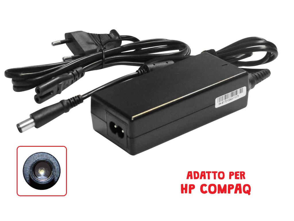 Adattatore HP Compaq 19.5V 3.33A 65W 4.8*1.7 doppio innesto Mod. HP19.5V3.3A