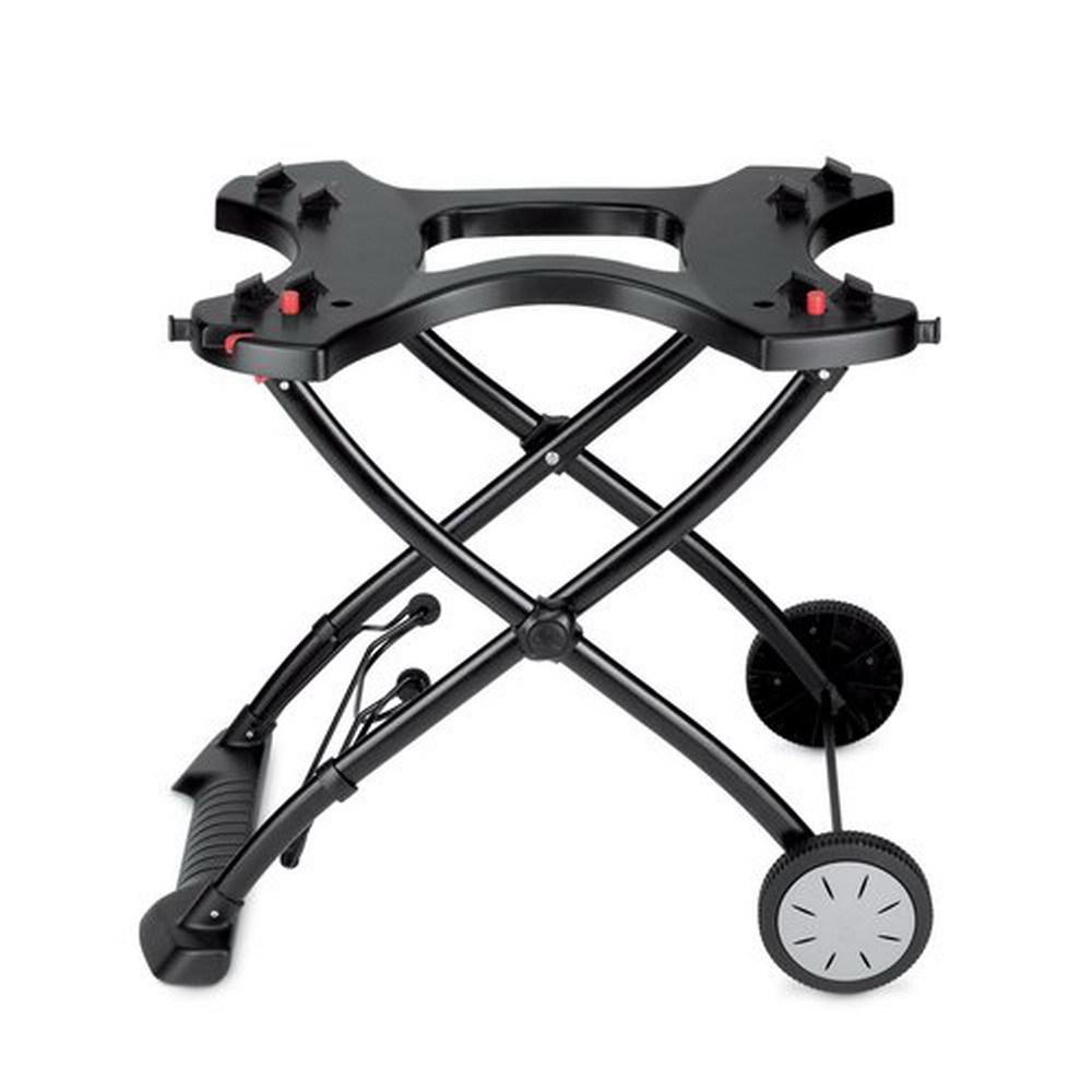 Carrello/tavolo pieghevole dotato di doppia ruota e piedini Metallo e materiale plastico