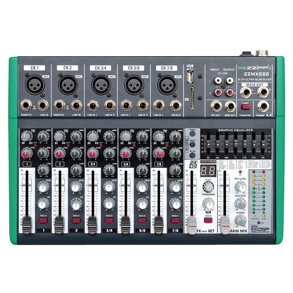 Mixer compatto 8 canali con dsp e bluetooth mixer 8 canali con lettore mp3 dsp e bluetooth - Specchi riflessi karaoke ...