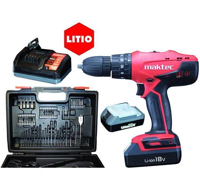 Trapano Hp 457 Dwex4 - Litio 18 V. - 2 Batterie_Cod. 8951237_Makita