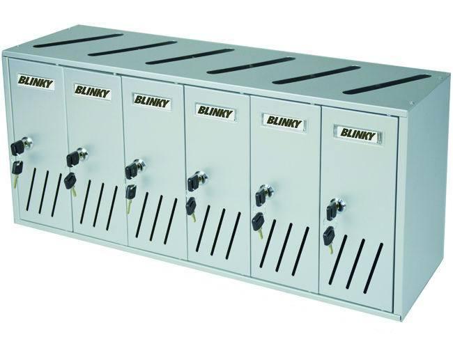 CASELLARI POSTALI   ALU-SILVER C6 6-BOX Cod.2735820 - Blinky