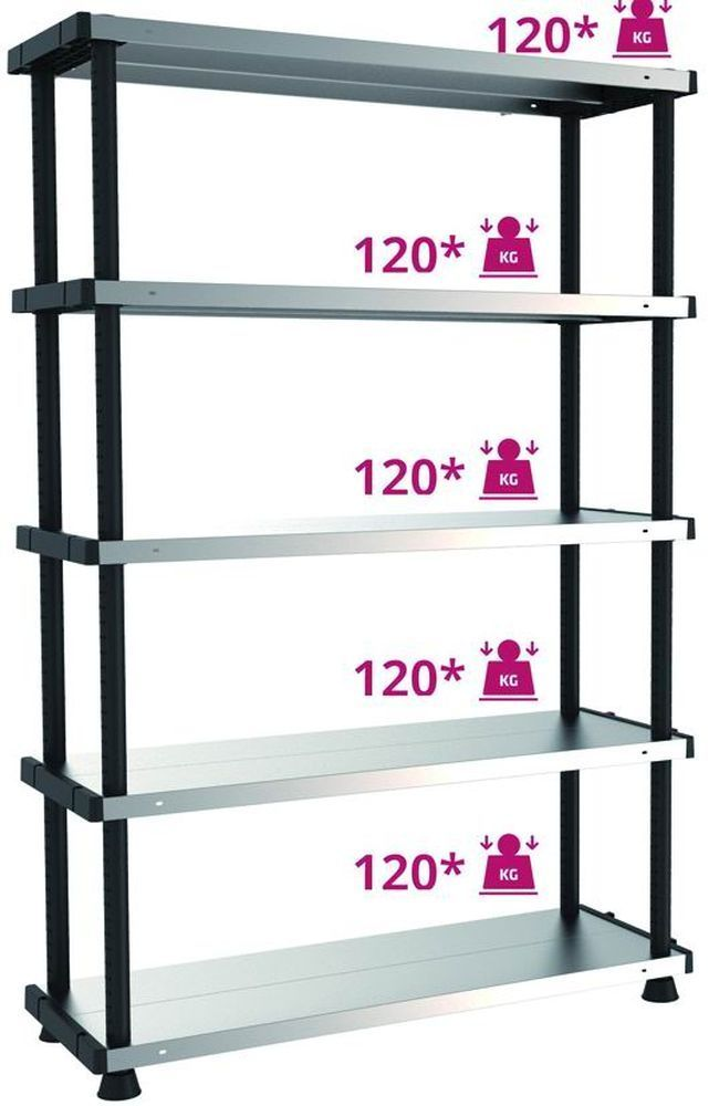 SCAFFALATURE KIT   MPSHELF120RC 5 PIANI Cod.2829810 - Terry Plastic