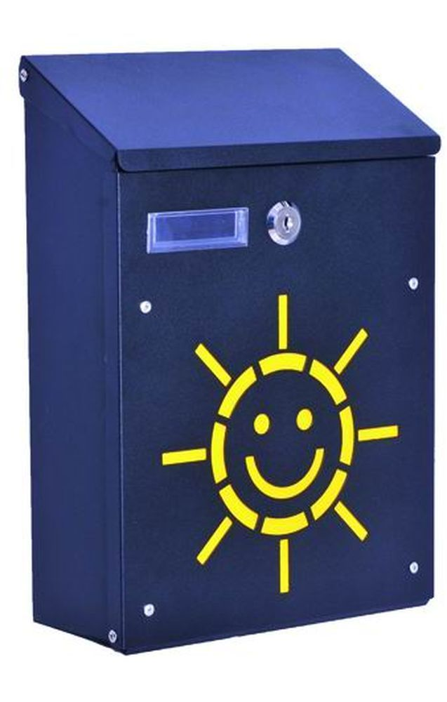 CASSETTE P/LETTERE   SOLE ACCIAIO NERO Cod.2729820 - Blinky
