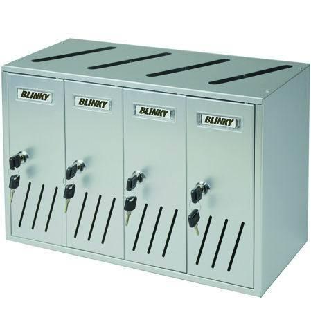 CASELLARI POSTALI   ALU-SILVER C4 4-BOX Cod.2735818 - Blinky