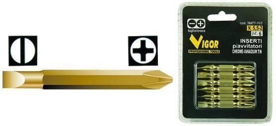 INSERTI P/AVVITATORI    CRTAGLIO/CROCE PEZZI 6 Cod.3847710 - Vigor