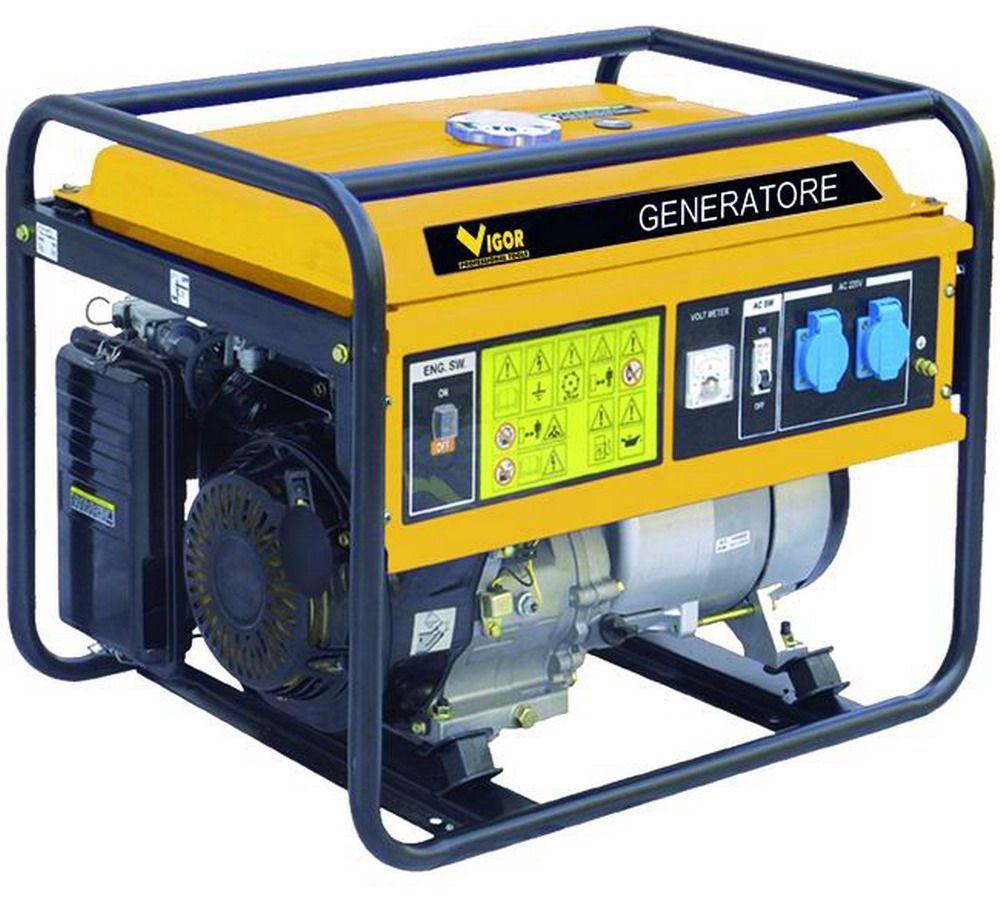 GENERATORI   V-T6500 CARRELLATO Cod.5309230 - Vigor