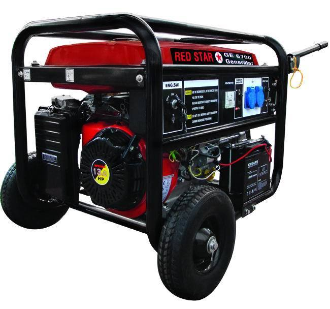 GENERATORI MOSA RED-STARGE-6700 AVR BENZINA Cod.5311030 - Vuemme