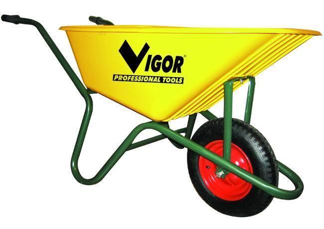 Carriole    100-Giallavasca Gialla Plastic_Cod. 5973020_Vigor