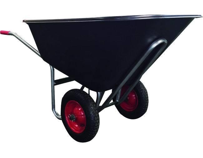 Carriole    Big 2-Ruotevasca Nera Plastic_Cod. 5973110_Vigor