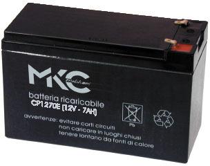ACCUMULATORE MKC1270P AL PIOMBO 12V 7A F.4.8