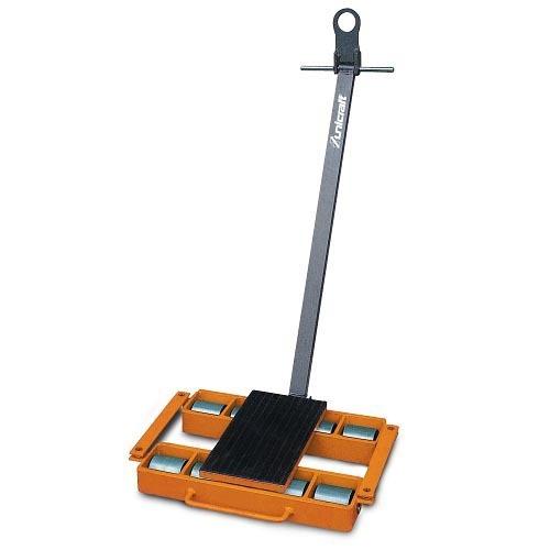UNI6191120 - Pattini A Rulli Modello TF 12 Con Timone - Portata 12 T - Dimensioni 640x566x115 Mm