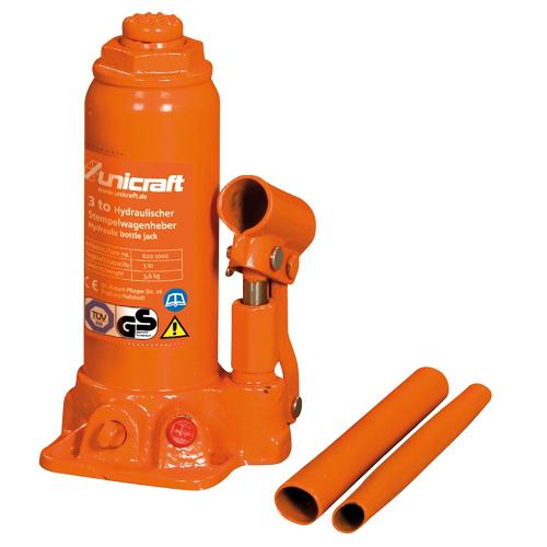 Cric A Bottiglia Modello HSWH 3 - Portata 3 Tonnellate - Alzata 118 mm
