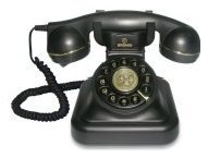 Telefono Vintage 20 Nero  Cod.9029663 -  Brondi