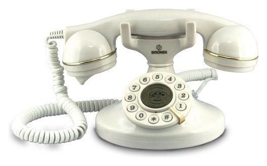 Telefono Vintage 10 Bianco  Cod.9029664 -  Brondi