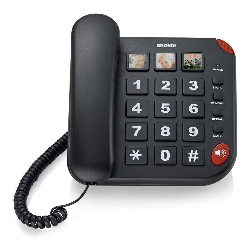 Telefono Senior Bravo 15 Nero  Cod.9029677 -  Brondi