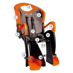 Bellelli Seggiolino Bici Black-Orange Tiger 1TGTM01