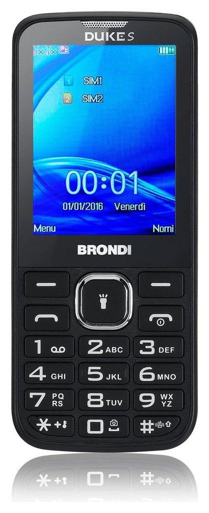"""Cellulare DUKE S Si 2,4"""" 1.3 Mpx Li-ion 600 mAh  Cod.9029681 -  Brondi"""
