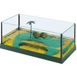 Tartarughiera Haiti 40 in vetro con isola 62004023