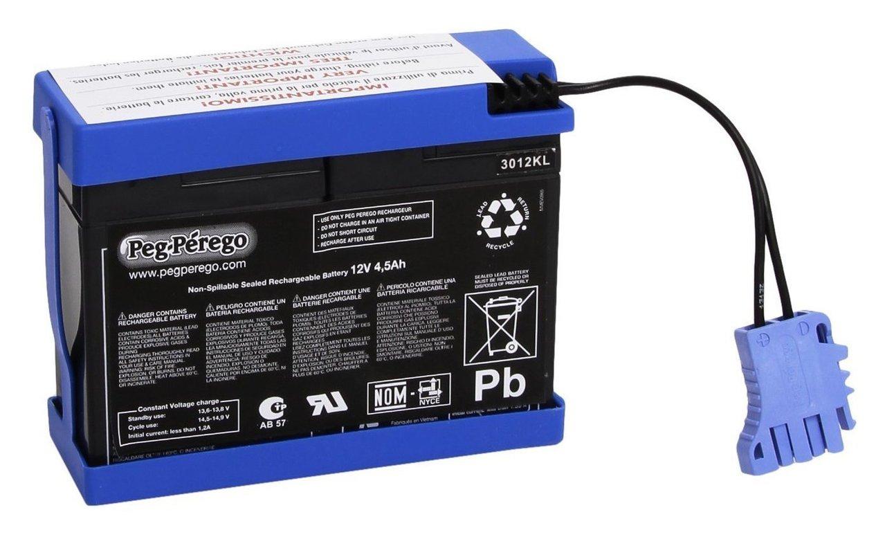 Batteria ricambio per veicoli Peg Perego12 volt 4,5 ah KB0032