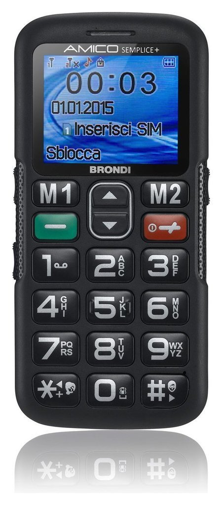 Cellulare Amico Semplice  Doppia Sim - Litio 10273650 _Cod. 9029688_Brondi