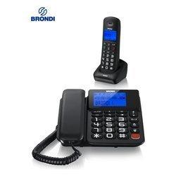 Telefono Fisso + Cordless Bravo Style Combo Nero _Cod. 9029695_Brondi