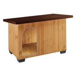 Cuccia in legno Baita 80 in kit di montaggio cm 102x70x65,5 per cani taglia media 87015000