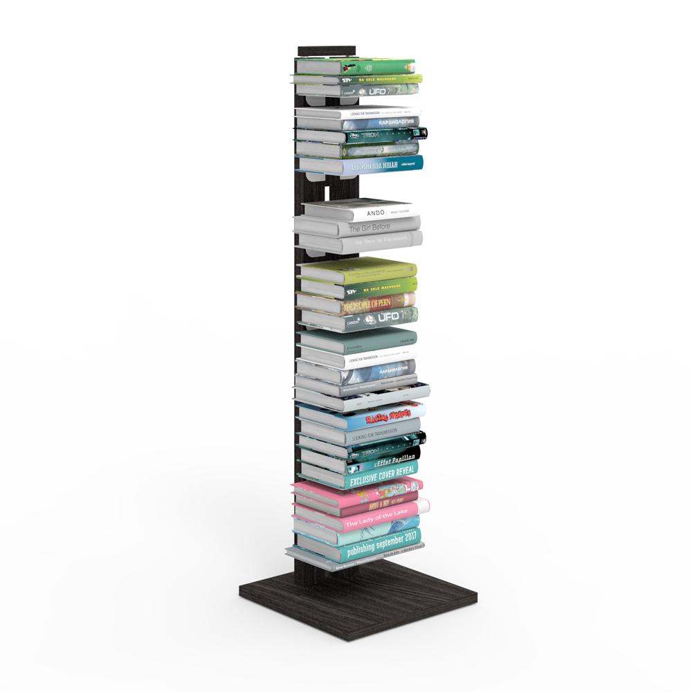 Zia Ortensia |  bibliothèque à colonne | h 105 cm | noire