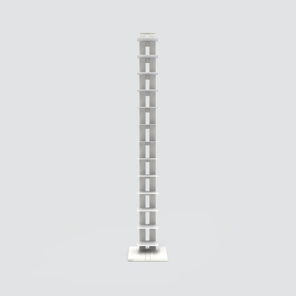 Zia Ortensia    bibliothèque à colonne   h 195 cm   blanc
