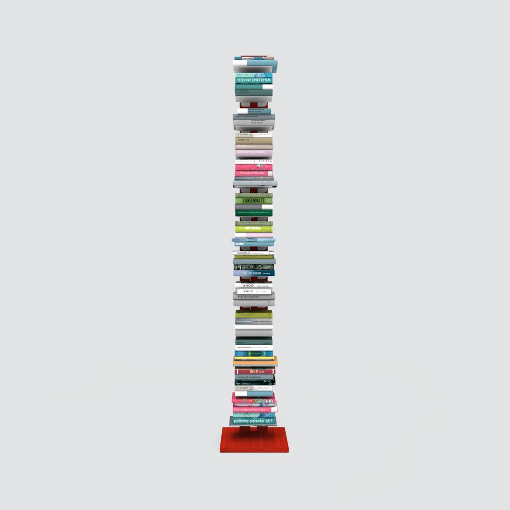 Zia Ortensia |  bibliothèque à colonne | h 195 cm | rouge