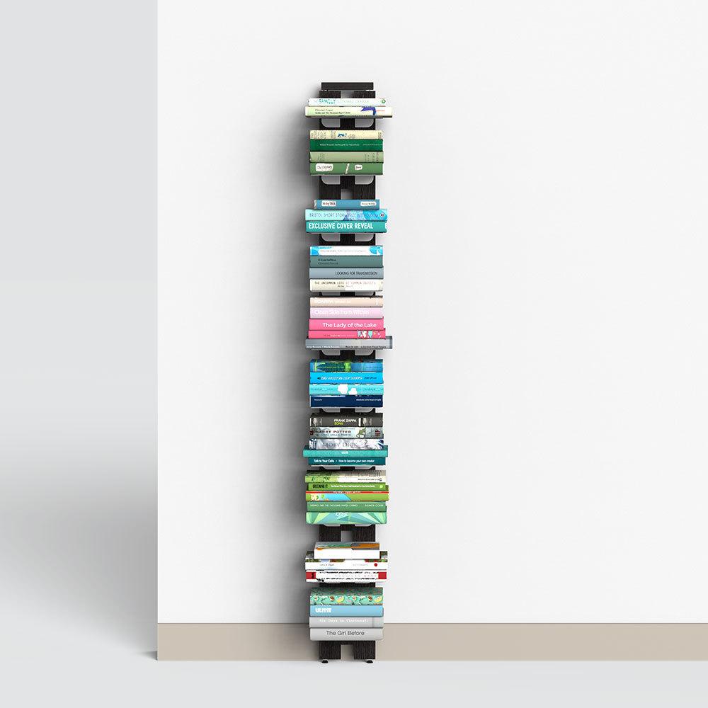 Zia Ortensia   bibliothèque à mur   h 150 cm   noire