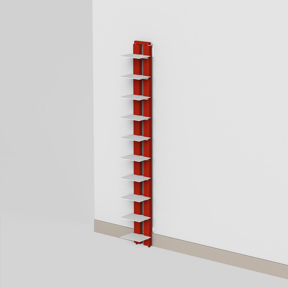 Zia Ortensia   bibliothèque à mur   h 150 cm   rouge