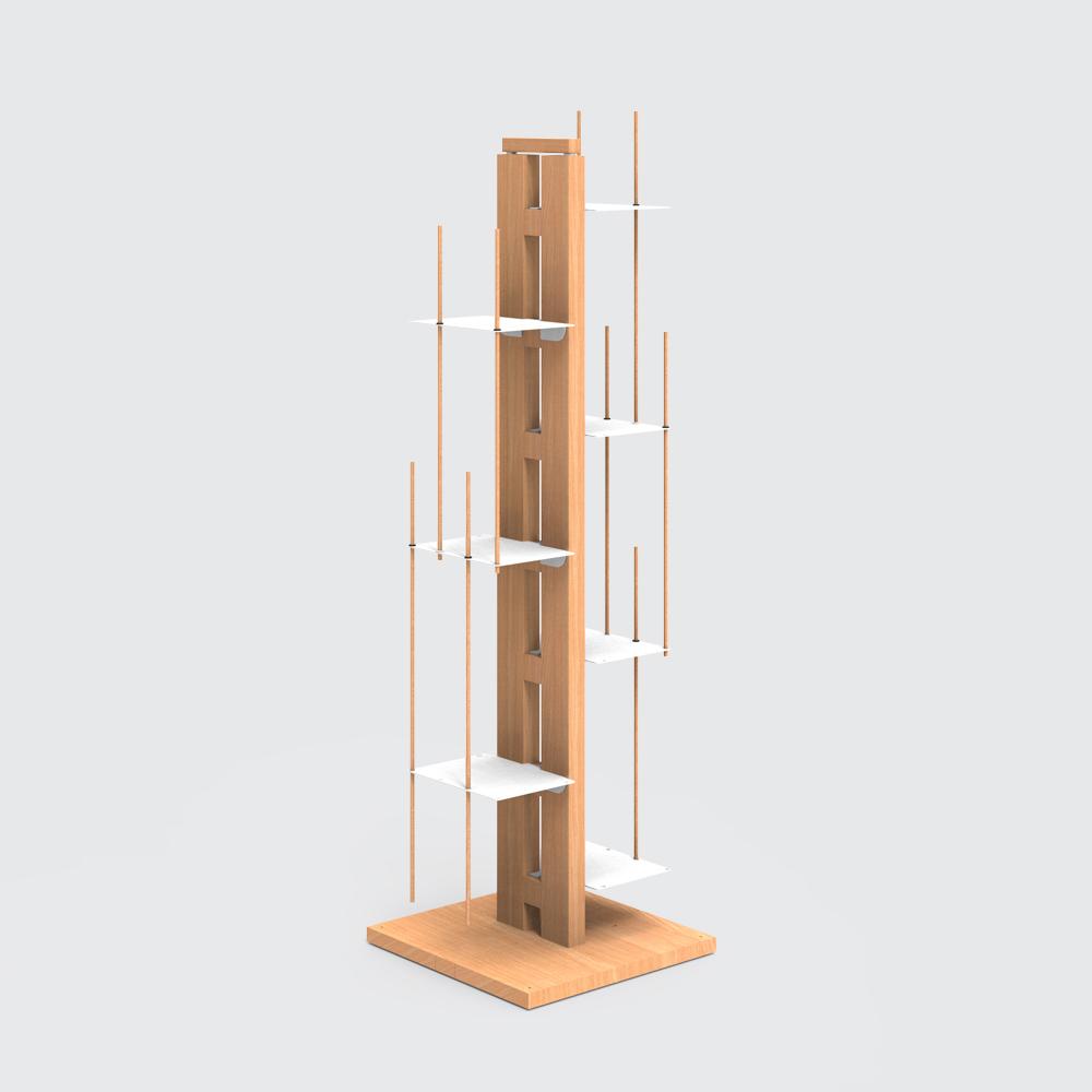 Zia Veronica | bibliothèque à colonne | h 105 cm