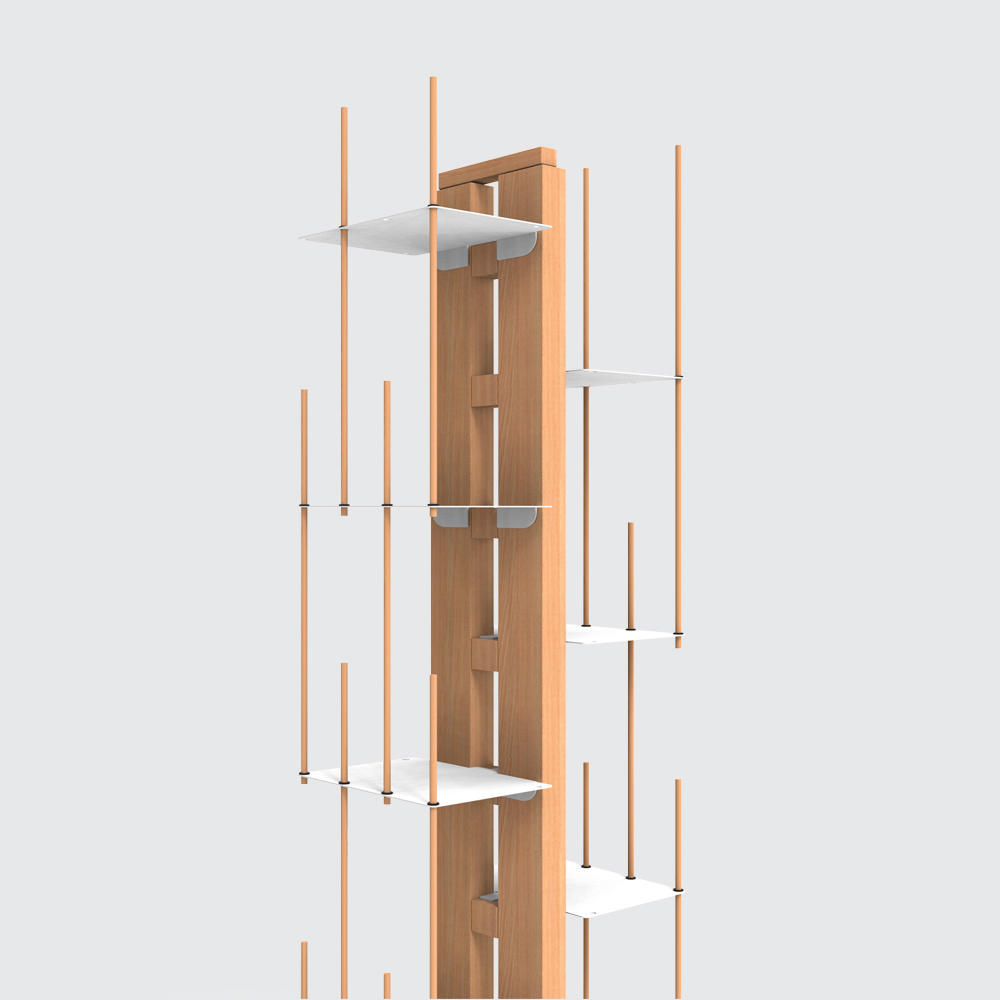 Zia Veronica | libreria a colonna | h 150 cm