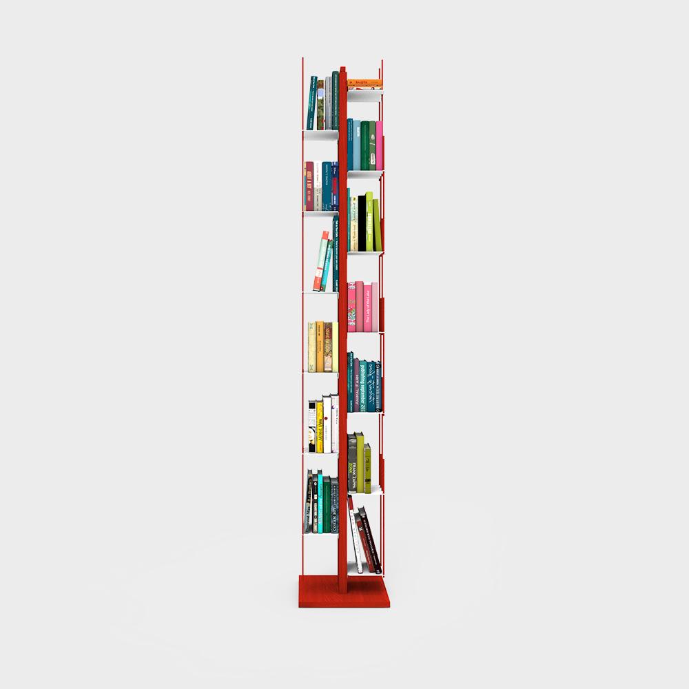 Zia Veronica | libreria a colonna | h 195 cm | rosso
