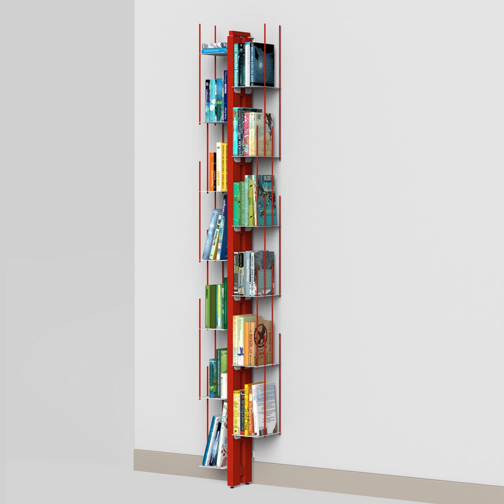 Zia Veronica   libreria a parete   h 195 cm   rosso