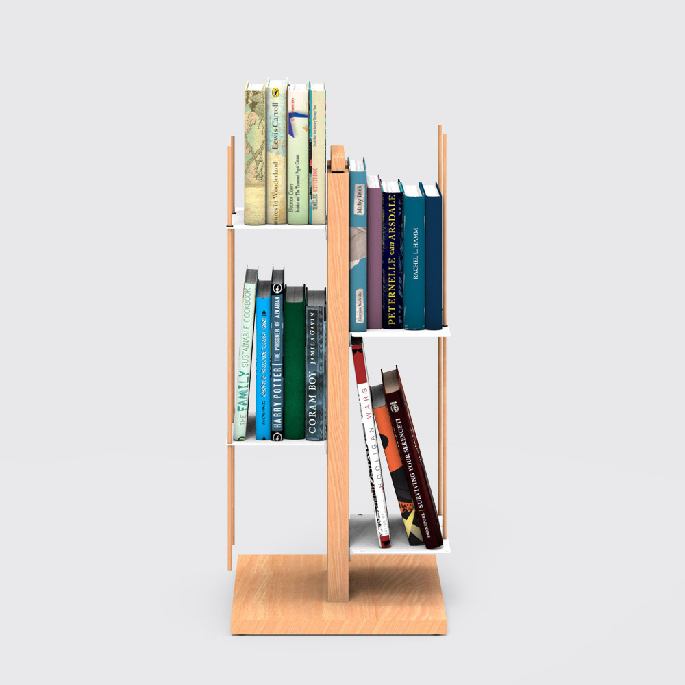Zia Veronica   libreria a colonna   h 60 cm   naturale