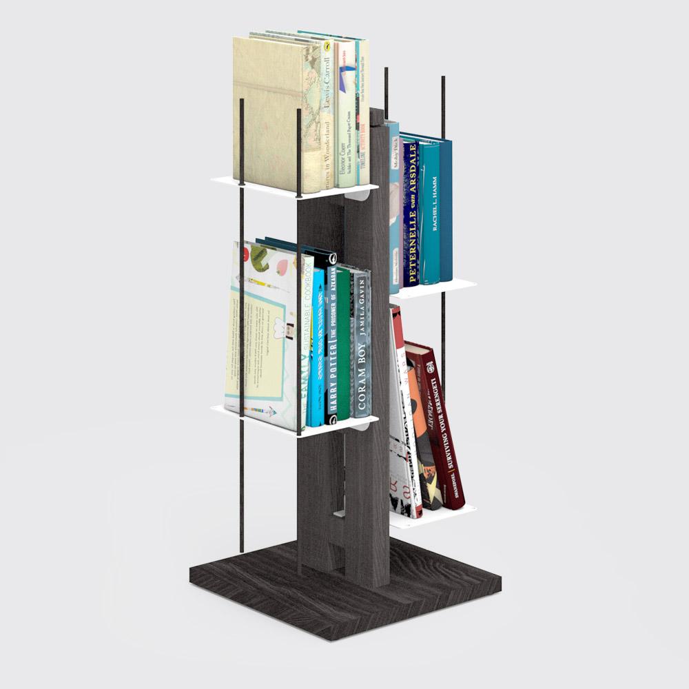 Zia Veronica   libreria a colonna   h 60 cm   nero