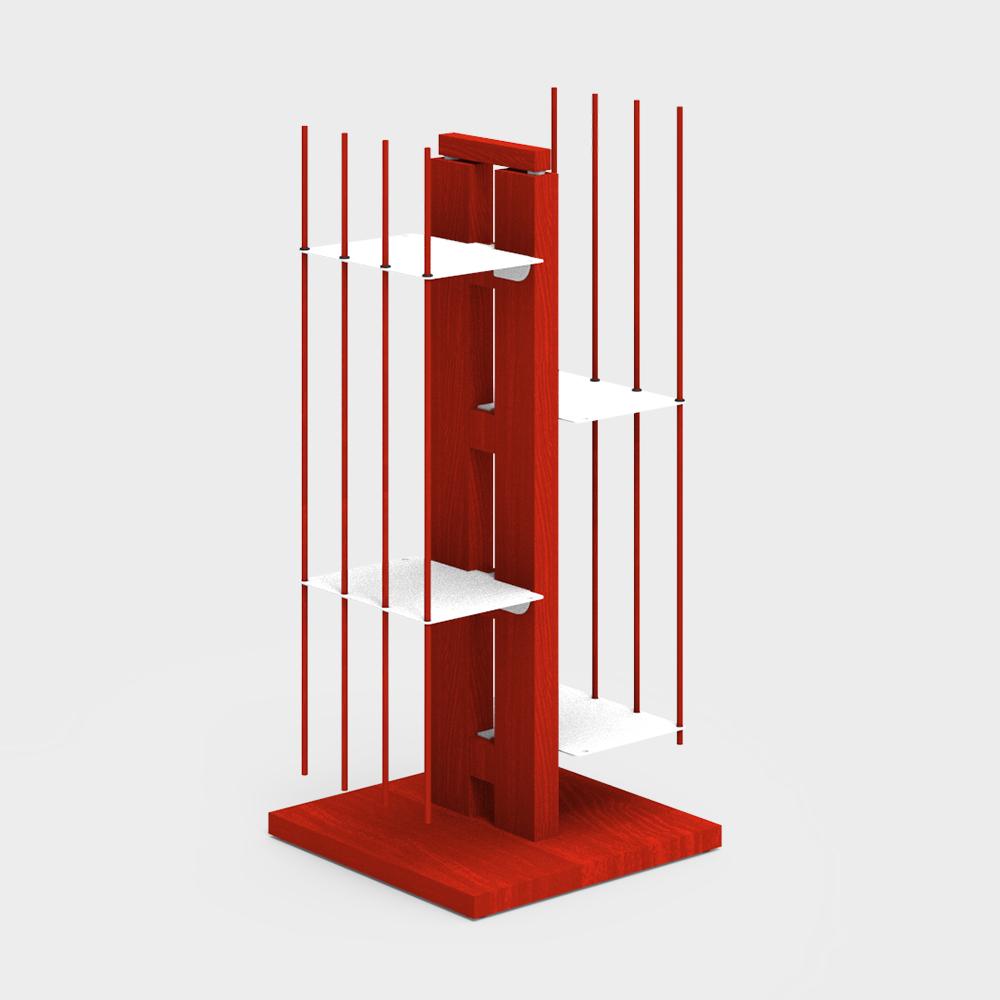 Zia Veronica | libreria a colonna | h 60 cm | rosso