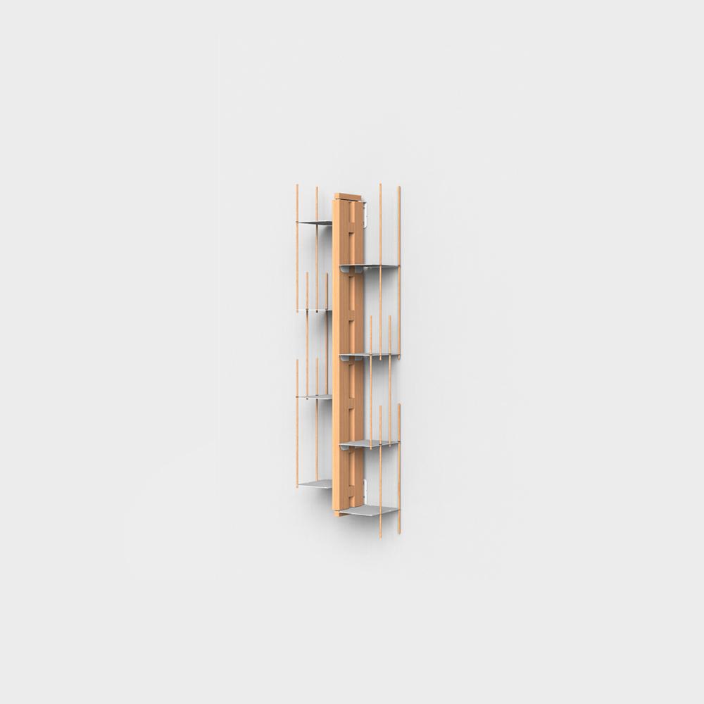Zia Veronica | Wall hung bookshelf  | h 105 cm