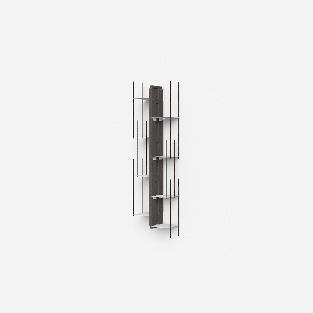 Zia Veronica |  bibliothèque sospendue | h 105 cm | noir
