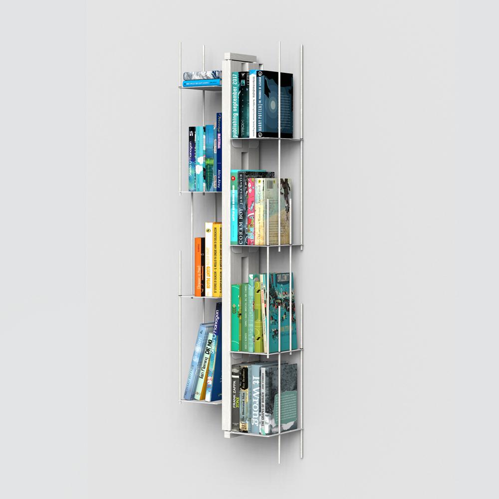 Zia Veronica |  bibliothèque sospendue | h 105 cm | blanc