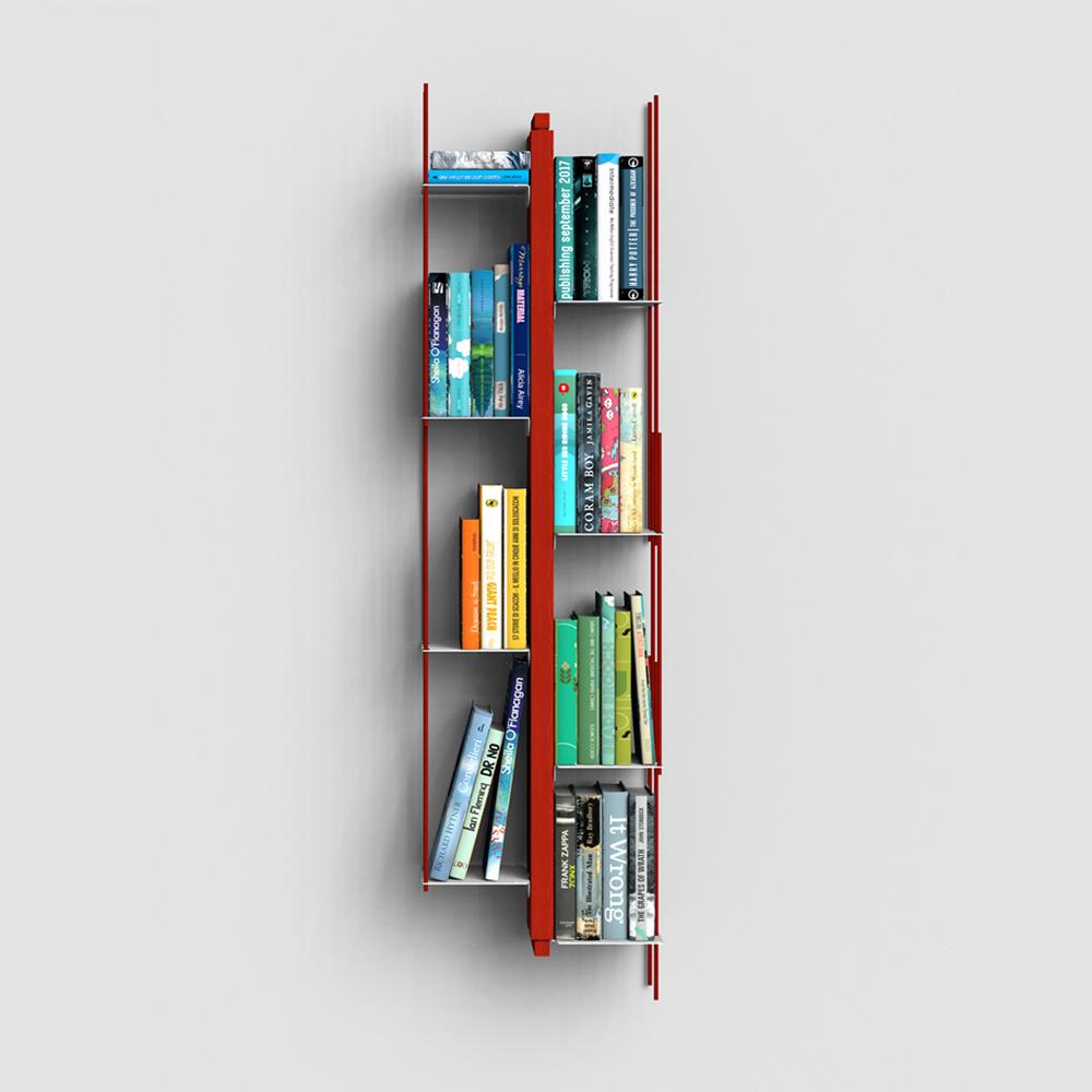 Zia Veronica | libreria sospesa | h 105 cm | rosso