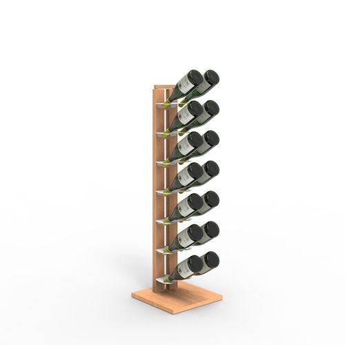 Zia Gaia | Column bottle rack with single shelves | h 105 cm